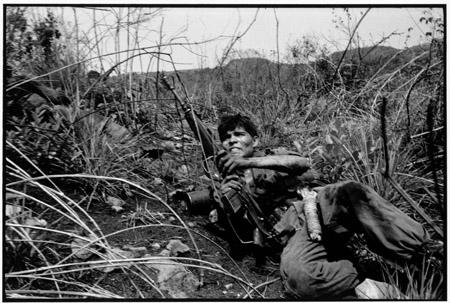 EL SALVADOR. Cabanas. 1983. Soldiers under fire. (EL SALVADOR, page 78) ©Susan Meiselas/Magnum PhotosContact email:New York : photography@magnumphotos.comParis : magnum@magnumphotos.frLondon : magnum@magnumphotos.co.ukTokyo : tokyo@magnumphotos.co.jpContact phones:New York : +1 212 929 6000Paris: + 33 1 53 42 50 00London: + 44 20 7490 1771Tokyo: + 81 3 3219 0771Image URL:http://www.magnumphotos.com/Archive/C.aspx?VP=Mod_ViewBoxInsertion.ViewBoxInsertion_VPage&R=2K7O3RW7G0K&RP=Mod_ViewBox.ViewBoxZoom_VPage&CT=Image&SP=Image&IT=ImageZoom01&DTTM=Image&SAKL=T