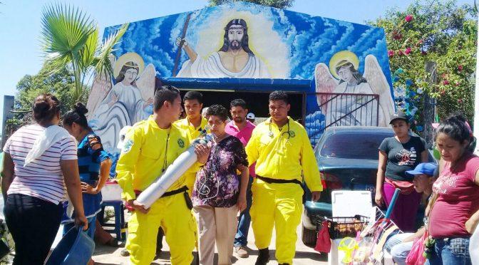 COMANDOS ATIENDE EMERGENCIAS EN CAMPOS SANTOS