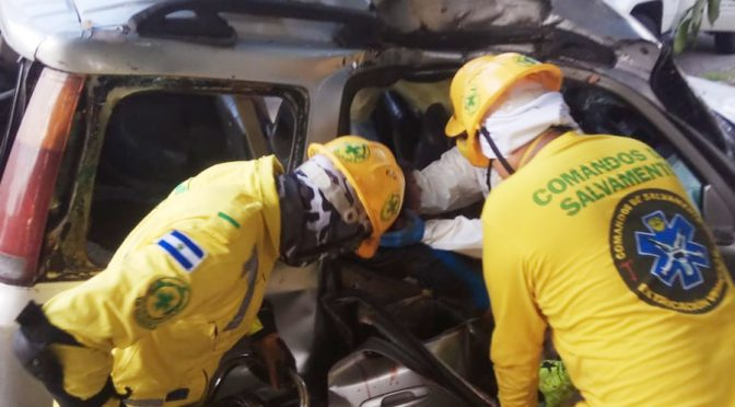 PASAJERO MUERE AL ESTRELLARSE AUTO EN PANAMERICANA