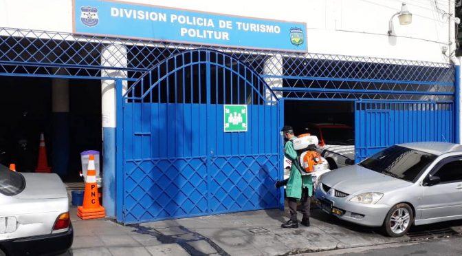 COMANDOS DESINFECTA DELEGACIONES POLICIALES