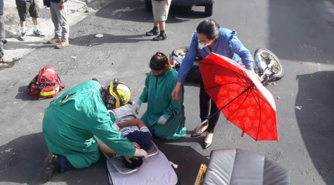 ACCIDENTES DE MOTOCICLISTAS AUMENTAN DÍA A DÍA